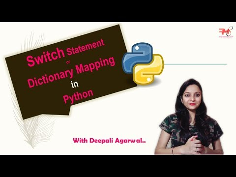#20 Switch Statement In Python| Switcher Statement | Dictionary Mapping In Python | PyCharm | Hindi