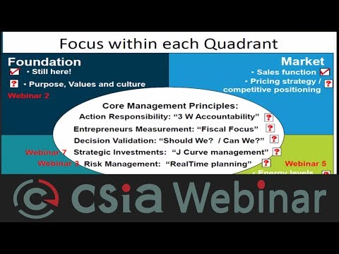 CSIA Webinar Developing a professional project management team for systems integration