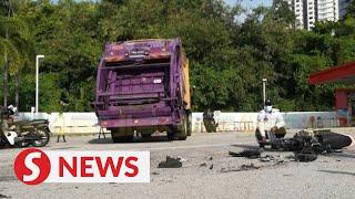 Elderly man dies after being pinned under garbage truck in Penang
