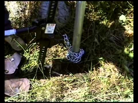 Easy Way To Pull Remove Fence Posts Doovi