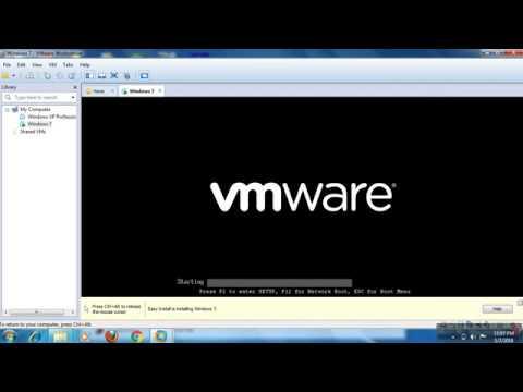 Window 7 installation in  vmware