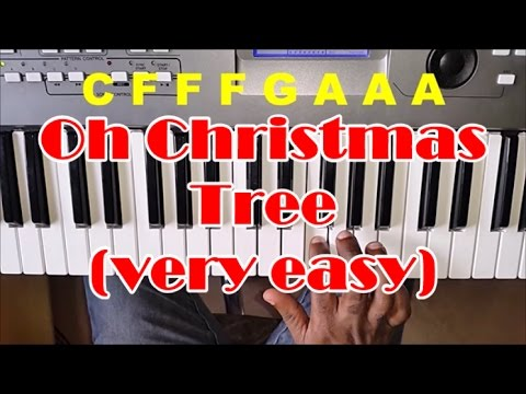 How To Play Oh Christmas Tree - Right Hand - Very Easy Piano Tutorial
