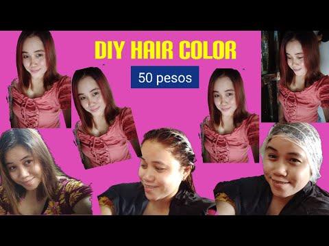DIY Color hair [ Sa halagang 50 Pesos lang maganda buhok  kana/ cindy feliciano