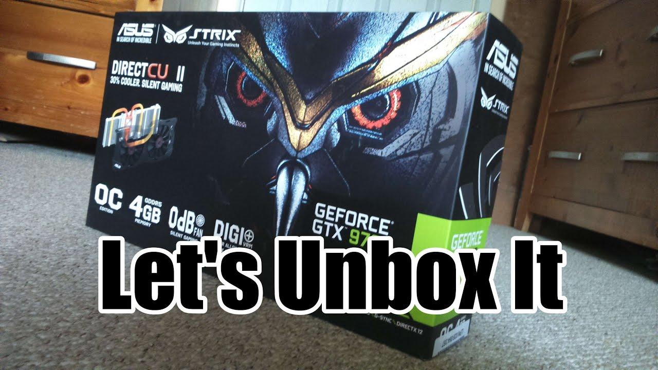 Let's Unbox: ASUS Strix GTX 970 & Install it (ETS2 Benchmarks (Sort Of))