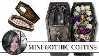 ⚰ ⚜ Gothic Mini Coffins ⚜ ⚰