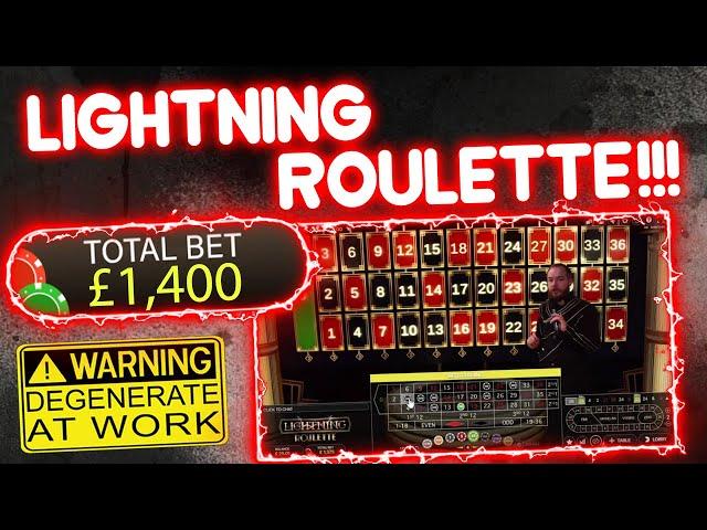 £1,400 vs Lightning Roulette!!
