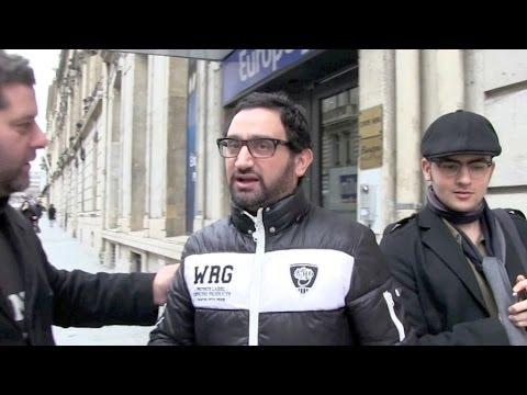 Cyril Hanouna at Europe1 radio station in Paris
