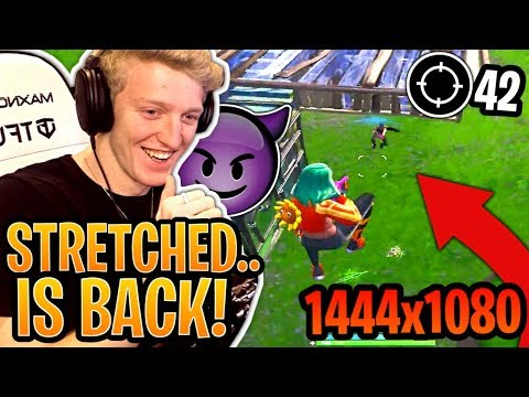 Tfue POPPING OFF Back on *STRETCHED* Res & Explains WHY He Did it! - Fortnite Moments