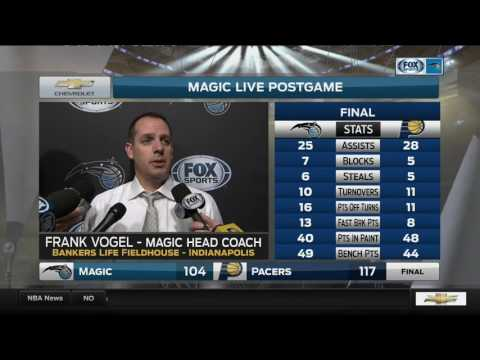 Frank Vogel -- Orlando Magic at Indiana Pacers 01/01/2017