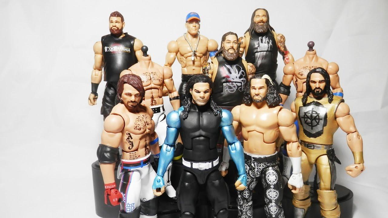 Wwe wrestlemania 33 elite figures hardy boys aj styles for Custom elite com