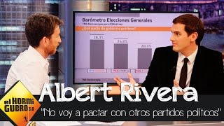 """Albert Rivera: """"No voy a pactar con otros partidos políticos"""" - El Hormiguero 3.0"""