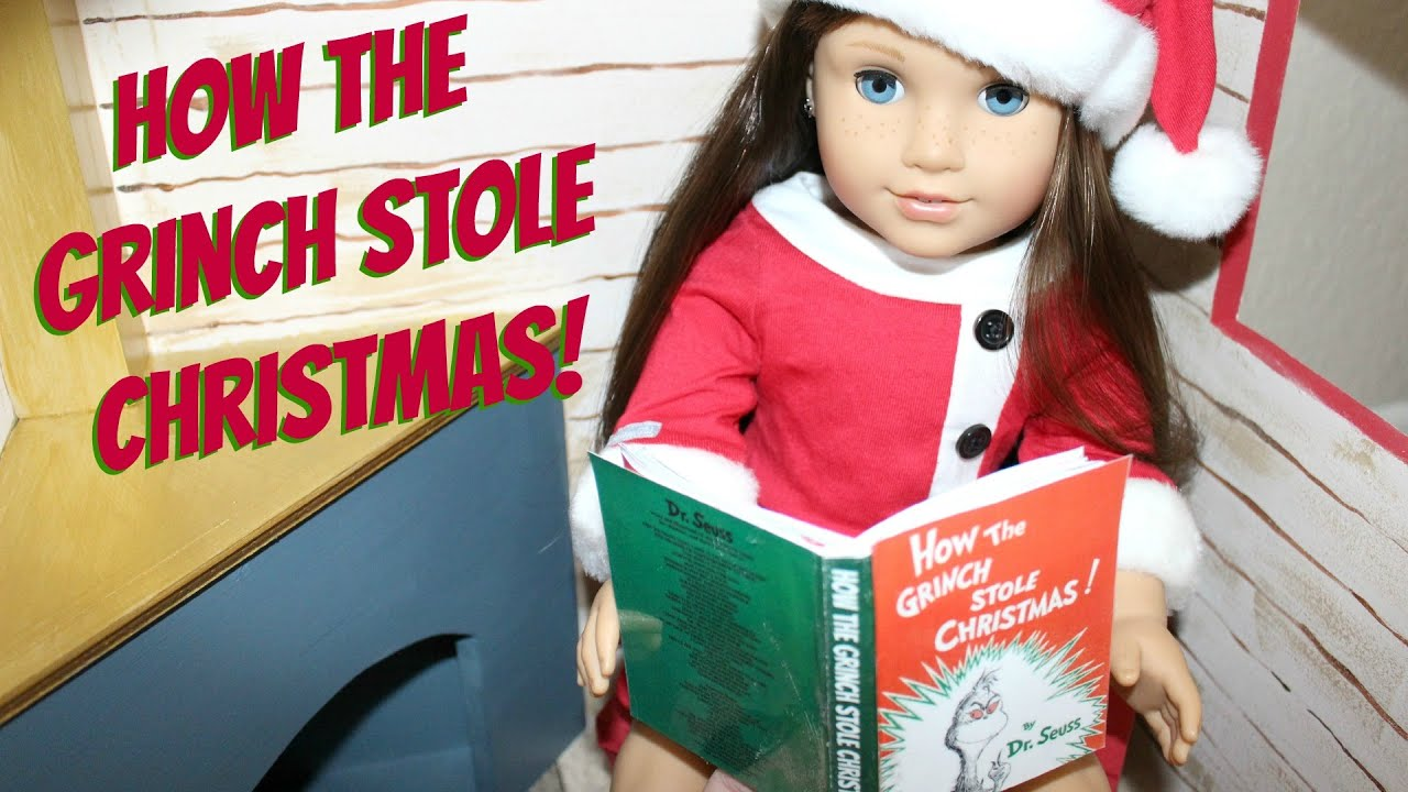 diy american girl doll book how the grinch stole christmas youtube