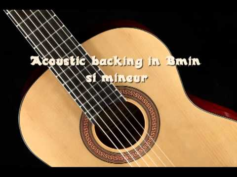 acoustic guitar backing track in bmin youtube