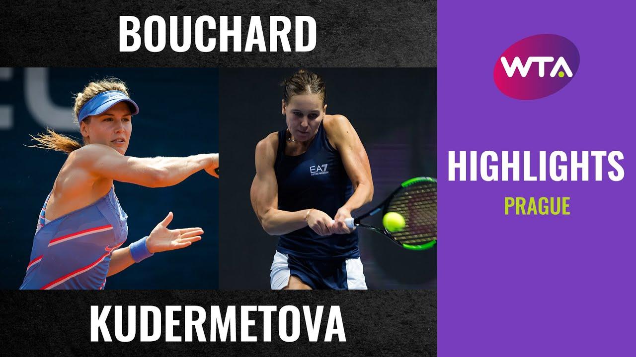 Download Eugenie Bouchard vs. Veronika Kudermetova   2020 Prague First Round   WTA Highlights