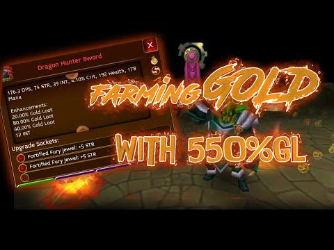 Farmando Gold Com 550%Gold Loot - Arcane Legends