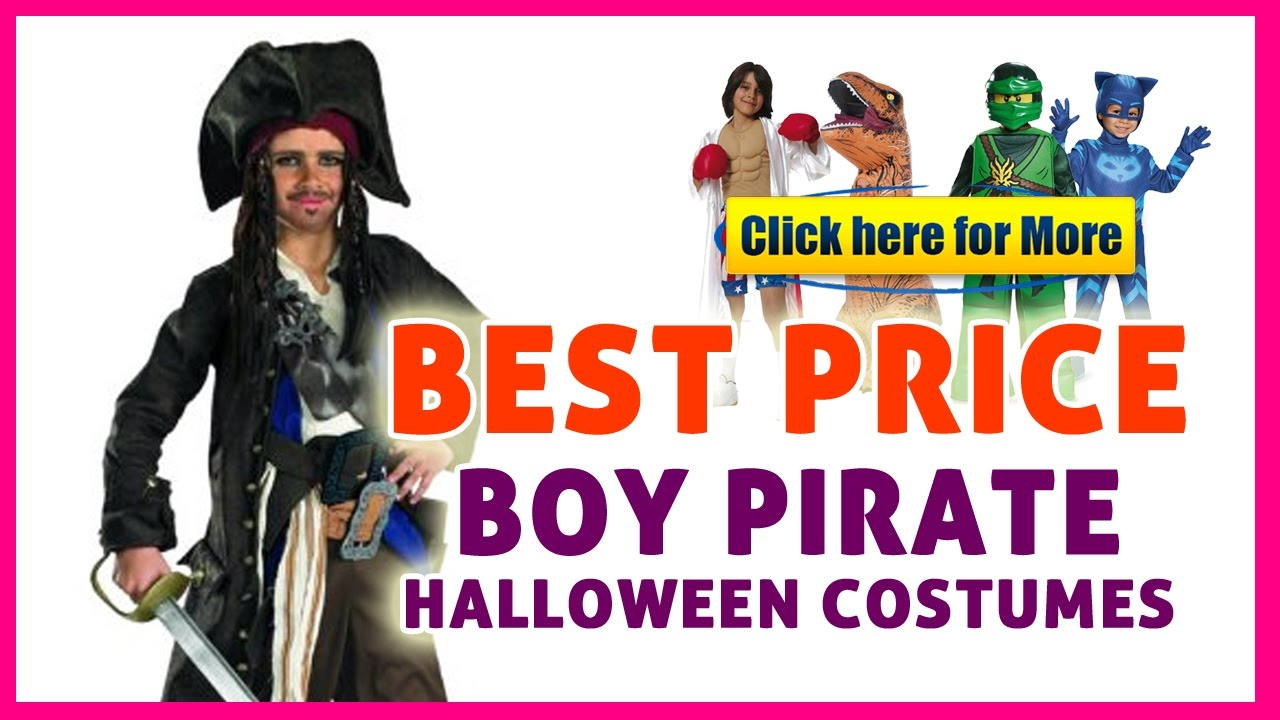boy pirate halloween costumes - boy costumes on sale! - youtube