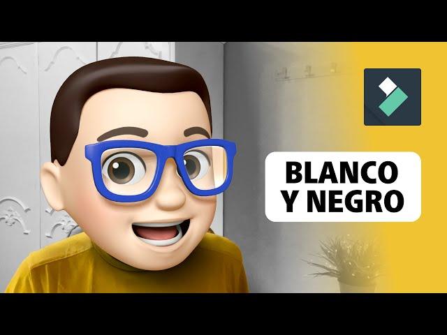 Aplicar BLANCO y NEGRO en FILMORA 🖤🤍 | Curso Filmora