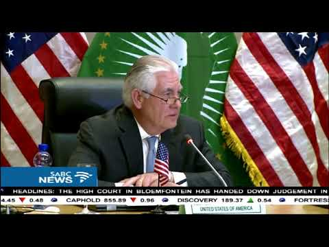 US secretary of state in Africa for an official trip