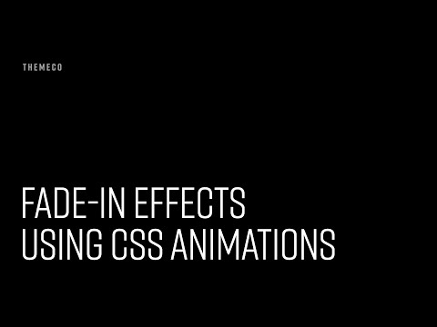 Fade-In Effects Using CSS Animations