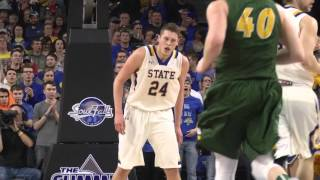 men s basketball vs north dakota state summit league championship title game highlights 03 08 2016