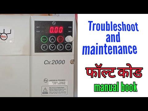 Troubleshoot And Maintenance Fault Code L T Ac Drive L T Vfd Menual Youtube