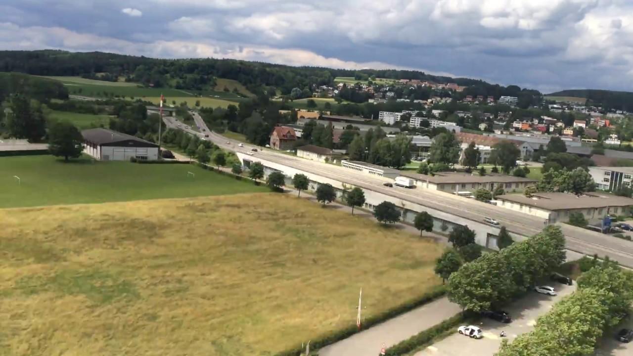 Plane landing at Zürich Airport - Switzerland (Swiss)