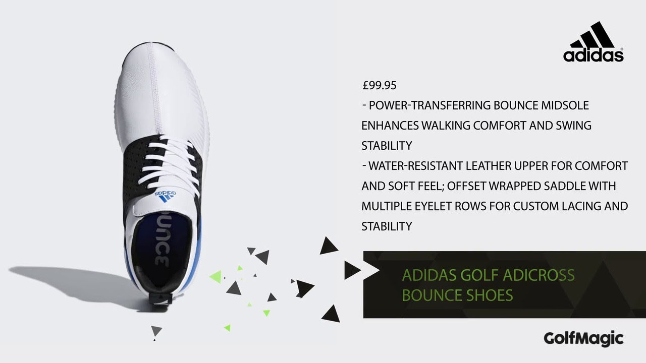 Golfmagic Style Adidas Golf Adicross Bounce Shoes Youtube