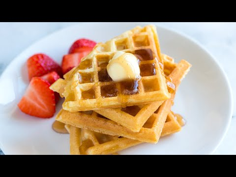 How To Make The Best Waffles From Scratch - Light And Crispy Waffle Recipe