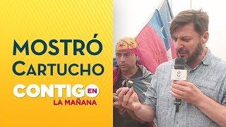 Rafa Cavada mostró cartuchos usados de Carabineros en protestas - Contigo en La Mañana