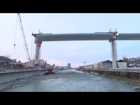 Il ponte di Genova ora scavalca di nuovo il Polcevera