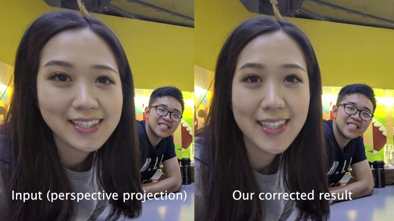 Researchers develop new anti-face-distortion method for wide-angle