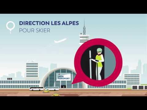Lyon Aéroport : direction les Alpes pour skier