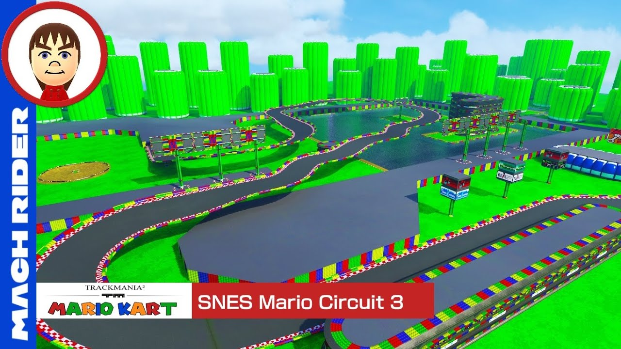 mario kart trackmania snes mario circuit 3 youtube. Black Bedroom Furniture Sets. Home Design Ideas