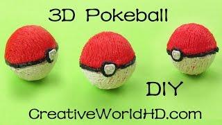 How to Make Pokeball 3D(PoKemon) - 3D Printing Pen Creations/ DIY Tutorial