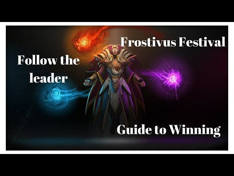 DOTA 2  FROSTIVUS - Easy Invoker game - Follow the leader