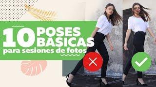 10 poses básicas para sesiones de fotos