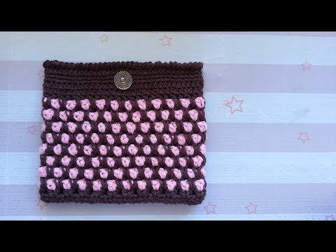 How to Crochet the Make-Up Bag using Moroccan Tile Stitch
