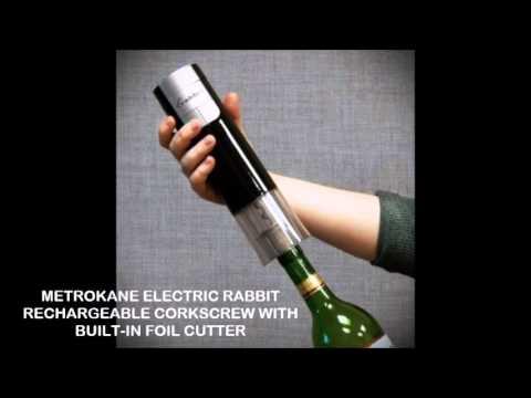 Houdini Electric Corkscrew Metrokane Electric Rabbit Rechargeable
