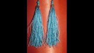 Как сделать серьги своими руками из ниток мулине/Earrings with thread floss their hands.