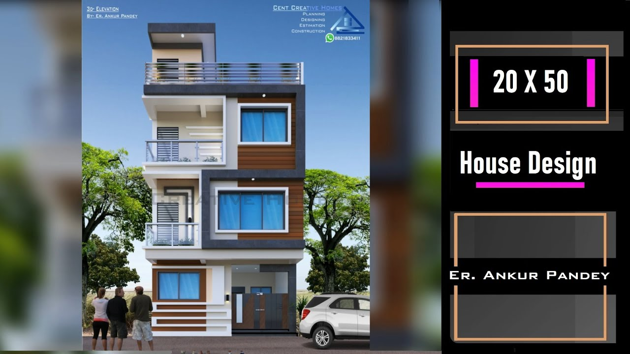 Modern Triplex House Design In India 20 50 Home Design 3 Storey House Exterior Interior Design Youtube