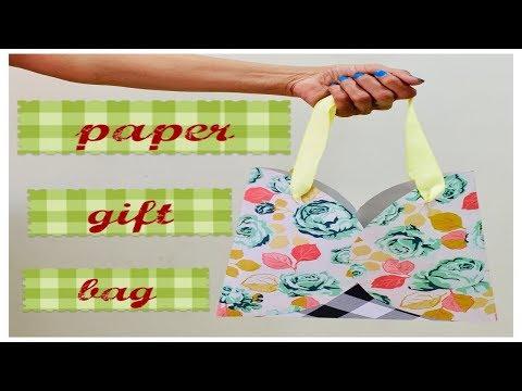 How to make paper bag in 3 easy steps / DIY Gift bag /candy bag