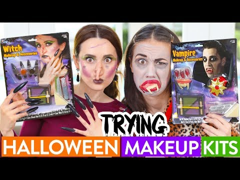 Thumbnail: TRYING $5 HALLOWEEN MAKEUP ft Miranda Sings!
