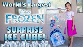 World's Largest Frozen FROZEN SURPRISE ICE CUBE!