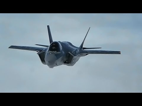 F-35A Strike Fighter First Flight To Bulgaria • Aerial View