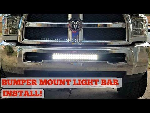 Bumper Mount LED Light Bar Install for (03-17) Ram 2500