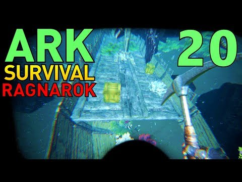 [20] Looting The Sunken Ship!!! (ARK Ragnarok Survival Multiplayer)