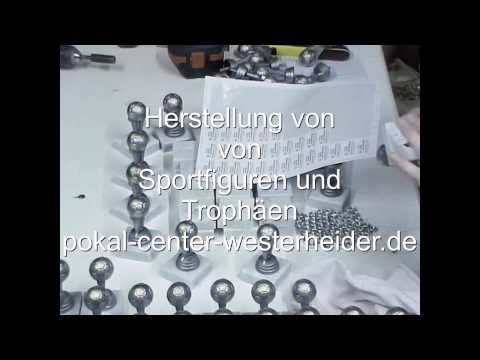 Herstellung von Sportfiguren und Trophäen
