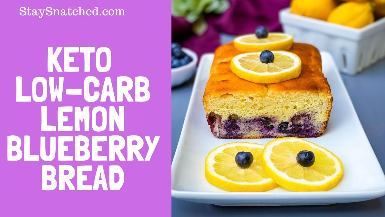 Keto Low Carb Lemon Blueberry Loaf EASY RECIPE