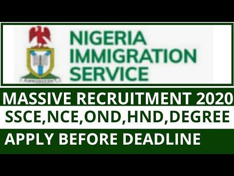 Nigeria Immigration Service Recruitment 2020 | Government Jobs In Nigeria