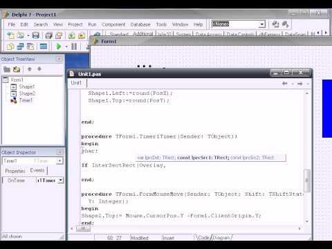 Delphi (практический курс) - Создаём игру PingPong часть 2